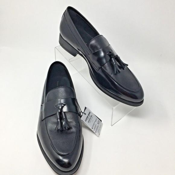 59a80a0e394 Zara Men s Black Leather Tassel Loafers